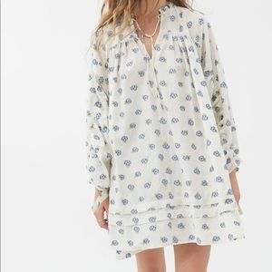 NWT UO Embroidered Frock Dress